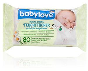 Babylove Meine Ersten Feuchttücher Újszülött Törlőkendő