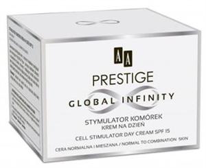 AA Prestige Global Infinity Sejt Stimuláló Nappali Arckrém Normál és Kombinált Bőrre SPF15