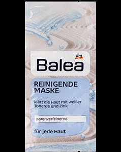 Balea Pórusfinomító Tisztító Maszk Fehér Agyaggal és Cinkkel