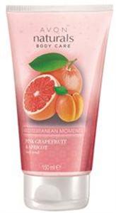 Avon Naturals Rózsaszín Grapefruit és Sárgabarack Testradír