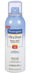 Neutrogena Ultra Sheer Body Mist SPF30