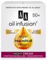 AA Oil Infusion2 50+ Arckontúrt Javító, Regeneráló Éjszakai Arckrém
