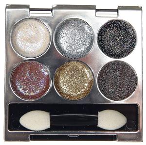 Claire's Cosmetics 6 Piece Metallic Glitter Eyeshadow Palette