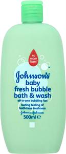 Johnson's Baby Fresh Bubble 2 az 1-ben Buborékos Fürdető és Tusfürdő