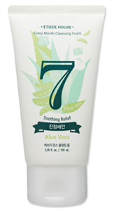 Etude House Every Month Cleansing Foam July, Aloe Vera