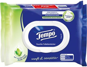 Tempo Sanft & Sensitiv Nedves Toalettpapír