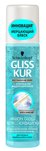 Gliss Kur Million Gloss Express Hajregeneráló Balzsam