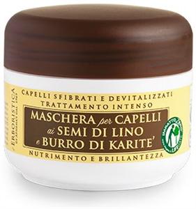 Erboristica Maschera per Capelli ai Semi Di Lino e Burro Di Karité