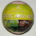 Body Club Fizzing Bath Bomb Lime & Coffee