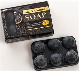Hedera Vita Black Cumin Soap With Goat Milk, Honey and Charcoal