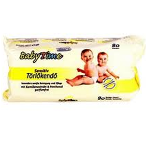 Baby Time Sensitiv Törlőkendő
