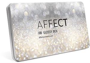 Affect Glossy Box Üres Alumínium Paletta
