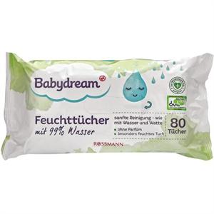 Babydream Nedves Törlőkendő 99% Vízzel