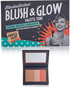 Dirty Works Blushalicious Blush & Glow Pirosító és Highlighter Paletta