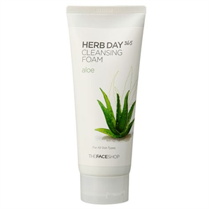 Thefaceshop Herb Day 365 Cleansing Foam - Aloe