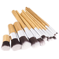 eBay Travel 11pcs Bamboo Cosmetic Brush