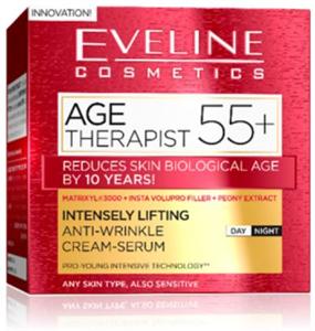 Eveline Cosmetics Age Therapist 55+ Ránctalanító Nappali és Éjszakai Krém-Szérum