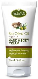 Kálliston Bio Olívaolaj Kéz és Testápoló Krém Argánolajjal
