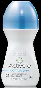 Oriflame Activelle Cotton Dry 24 Órás Izzadásgátló Golyós Deo