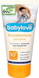 Babylove Szenzitív Napozó Krém Érzékeny Bőrre FF50+