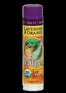 Badger Classic Lip Balm Lavender Orange