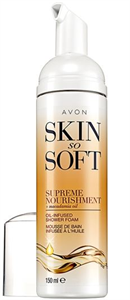Avon Skin So Soft Gazdagon Tápláló Makadámiadió-Olajos Tusfürdő Hab