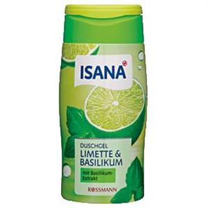 Isana Limette & Basilikum Duschgel Zöldcitrom És Bazsalikom Tusfürdő