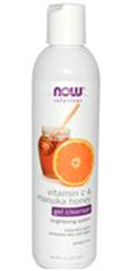 Now Foods Solutions Vitamin C & Manuka Honey Gel Cleanser