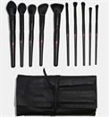 AOA 10 Piece Plush Faux Mink Brush Set