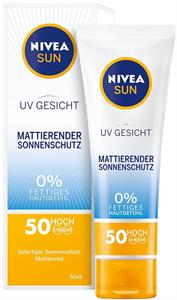 Nivea Sun Uv Napvédő Mattító Arckrém 50 Faktoros Fényvédelemmel