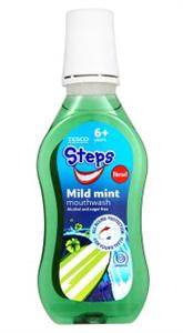 Tesco Steps Mild Mint Szájvíz Gyerekeknek 6 Éves Kortól