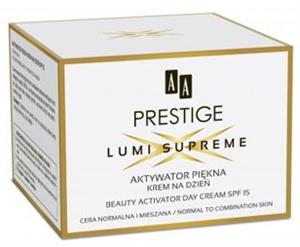AA Prestige Lumi Supreme Beauty Activator Nappali Arckrém Normál és Kombinált Bőrre SPF15