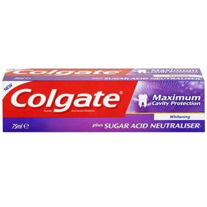 Colgate Maximum Cavity Protection Whitening Fogkrém Cukor Sav Semlegesítővel