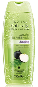 Avon Naturals Herbal Fekete Retek és Cédrus Frissítő Sampon