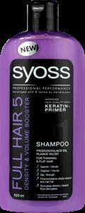 Syoss Full Hair 5 Hajsűrűség Fokozó és Dúsító Sampon
