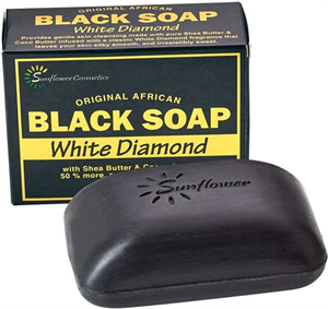 Sunflower Black Soap - White Diamond