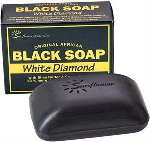 Sunflower Black Soap - White Diamond