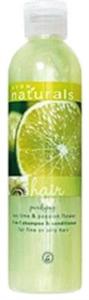 Avon Naturals Lime és Golgotavirág 2 az 1-ben Sampon és Balzsam Vékonyszálú És Zsíros Hajra