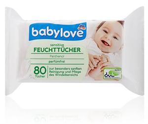 Babylove Sensitive Nedves Törlőkendő