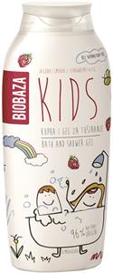 Biobaza Kids Hab- és Tusfürdő Gél - Eper és Füge