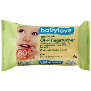 Babylove Olajos Törlőkendő