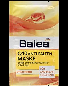 Balea Q10 Ránctalanító és Bőrfeszesítő Arcmaszk Panthenollal