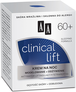 AA Clinical Lift 50+ Tápláló és Erősítő Hatású Éjszakai Arckrém