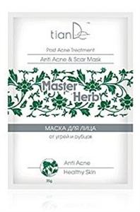 tianDe Master Herb Tisztító Arcpakolás Pattanások és Hegek Ellen