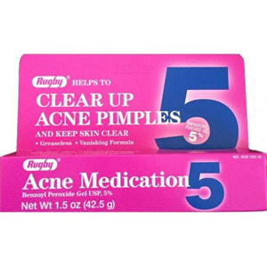 Rugby Acne Madication Benzoyl Peroxide Gel 5%