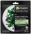 Garnier Pure Charcoal Tisztító és Hidratáló Textil Maszk Zsíros Bőrre, Fekete Tea Kivonattal