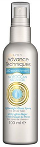 Avon 360 Nourishment Moroccan Argan Oil Lightweight Gloss Spray