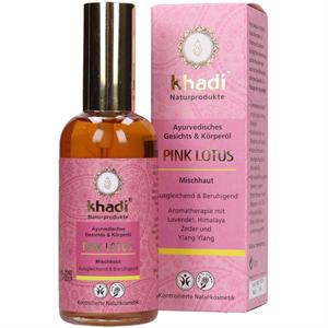 Khadi Pink Lotus Arc- és Testápoló Olaj