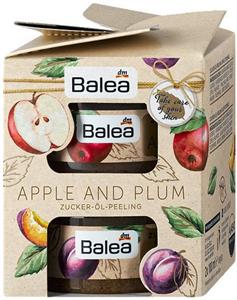 Balea Apple and Plum Geschenkset Zucker-Öl-Peeling Apple Olajos Cukorradír Testre