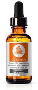 OZ Naturals 20% Vitamin C Serum + Astaxanthin + Hyaluronic Acid